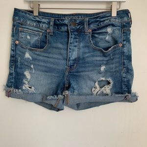 🌛AEO🌛 tomgirl distressed shorts